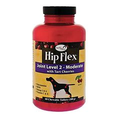 Overby Farm Hip Flex Joint Level 2 Moderate Care with Tart Cherries for Dogs 60 ct Chewable Tablets  Made in USA >>> Read more reviews of the product by visiting the link on the image.Note:It is affiliate link to Amazon.