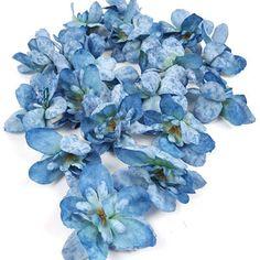 Antikolt szirmú fejvirág – kék – Kreatív Birodalom