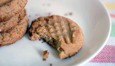 Vegan Peanut Butter Cookies    1 cup blanched almond flour  ½ teaspoon celtic sea salt  ¼ teaspoon baking soda  ½ cup creamy peanut butter or sunbutter  ¼ cup agave nectar or honey  2 tablespoons vegan shortening  1 teaspoon vanilla extract