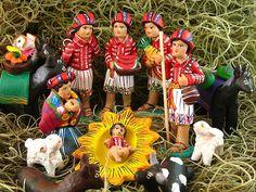 Nativity Scene - photo by Rudy Girón, via Flickr; ceramic nativity set in Guatemala