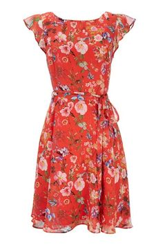 Red Floral Dress – Floral Dresses – Dresses