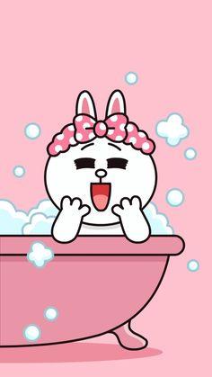 Es sabado/It's Saturday!!! Hug Cartoon, Profile Wallpaper, Brown Wallpaper, Lock Screen Wallpaper, Friends Wallpaper, Couple Wallpaper, Cute Illustration, Line Cony, Cony Brown