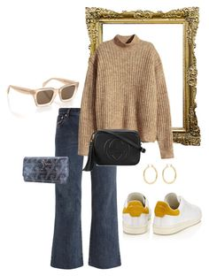 """""""Untitled #20"""" by ella-rudolfsson-1 ❤ liked on Polyvore featuring A.P.C., CÉLINE, H&M, Goyard, Étoile Isabel Marant, Gucci and Isabel Marant"""