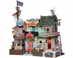 Lemax Spooky Town Pirates' Pub and Grub with Adaptor # 85666