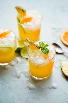 This pineapple punch recipe is festive, fizzy, and easy to make. If you love citrus-packed cocktails or cocktails with ginger beer, you will love this!