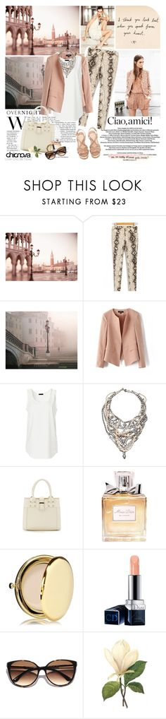 """""""Ciao, Venice"""" by electric-bird ❤ liked on Polyvore featuring Laura Biagiotti, Piazza, WALL, TOM BINNS DESIGN, Prada, Christian Dior, Estée Lauder, Kate Spade and &design"""