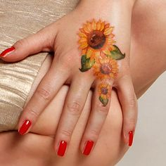 Beautiful Sunflower Tattoo Designs