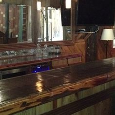 The built-in bar at the Space at Feather Oaks...isn't she beautiful?