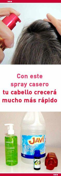 Con este spray casero de aloe vera tu cabello crecerá mucho más rápido #cosmetica #casera #pelo #cabello #crecer