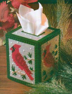 SNOWY CARDINAL TISSUE BOX COVER CHRISTMAS PLASTIC CANVAS PATTERN INSTRUCTIONS  | Crafts, Needlecrafts & Yarn, Embroidery & Cross Stitch | eBay!