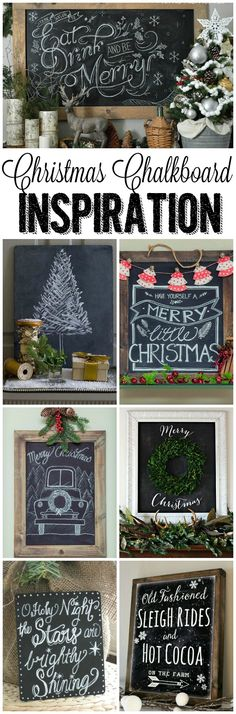 Chalkboard Inspiration I love all of these beautiful Christmas chalkboards! I need to try one!I love all of these beautiful Christmas chalkboards! I need to try one! Noel Christmas, Christmas Signs, Christmas Projects, Winter Christmas, All Things Christmas, Holiday Crafts, Holiday Fun, Christmas Ideas, Christmas Quotes