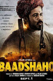 Genre : Mystery, Crime, Drama Stars : Aishwarya Rai Bachchan, Sunny Leone, Ajay Devgn, Ileana D'Cruz, Emraan Hashmi Runtime : 0 min. Movie Synopsis: Baadshaho is inspired by real-life events during the Emergency and revolves around stolen gold, a thief (Ajay Devgn), an undercover cop (Vidyut Jammwal), a character inspired by Maharani Gayatri Devi (Aishwarya Rai Bachchan) and an army officer (Emraan Hashmi) who is entrusted with protecting the country's treasure.