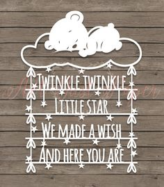 Twinkle twinkle little star, we made a wish and here you are Papercutting Template Designed by Not Just Paper Boutique. The finished cut will measure approx. 6 x 8″, in the image shown this is framed in a 10 x 12″ frame, with an 8 x 10″ mount. Your template is supplied as a flipped, print ready PDF file which will fit to print on A4 paper. *Personal Use* You may cut the design as many times as your like for yourself, to gift to a very lucky friend/family member, or to raise money for cha...