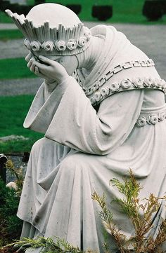 Cemetery sculpture…