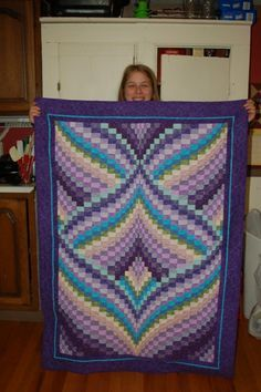Three purple quilts - first bargello and last night & day Bargello Quilt Patterns, Bargello Quilts, Jelly Roll Quilt Patterns, Purple Quilts, Colorful Quilts, Quilting Projects, Quilting Designs, Broderie Bargello, Crochet Quilt