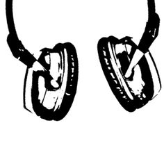 Headphone für T-Shirt