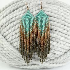 Beaded earrings 497084877620791462 - Beaded long earrings Dangle earrings Southwestern earrings Fringe beaded earrings Boho earrings Gyps Source by Seed Bead Jewelry, Bead Jewellery, Seed Bead Earrings, Fringe Earrings, Beaded Earrings, Seed Beads, Beaded Jewelry, Handmade Jewelry, Diy Jewelry