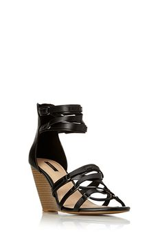 Strappy Wedge Sandals | Forever 21 - 2000063077