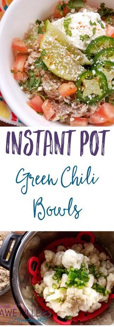 Living on the border our love for Mexican dishes grew! Out of that love, all these years later this Instant Pot Green Chili Bowl was created! Low Carb & healthy