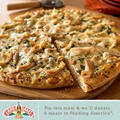 Till May 1, Land O'Lakes will donate $1 to Feeding America every time someone pins or repins a Land O'Lakes recipe on Pinterest. I'll take two of these White Chicken Pizzas! (That's two pizzas. Not two slices.)