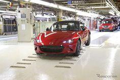 New Mazda MX-5, Roadster in Hiroshima Factory, Japan マツダ新型ロードスター (本社宇品第1工場)