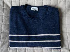 Navy Cotton striped sweater from hartford paris