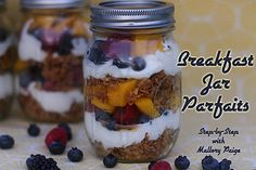 breakfast jar fruit yogurt parfait