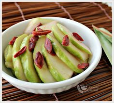 Sliced Guava with Dried Honey Peaches