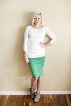 Kelly Green Hive Pencil Skirt