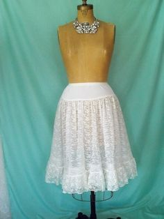 1950's DELICATE Fluffy White Lace/Tulle by GlamorousScavenger, $15.00
