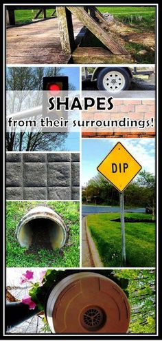FREE PHOTOS!  Summer is a great time to get outside and enjoy the outdoors.  Make it a learning experience with your students by pointing out shapes in their surroundings.  Follow the link within this blog post and download a set of photos that depict environmental shapes.
