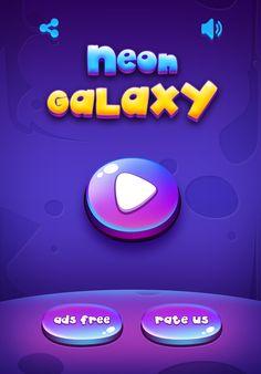 Neon Galaxy Block Puzzle on Behance Game Logo, Game Ui, Game Design, Layout Design, Mobile App Games, Kit Games, Splash Screen, Game Assets, Puzzle