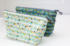 Zipper Pouch Tutorials from Simple Simon and Company.Simple sewing project for all ages to make!