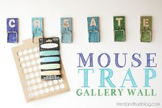 "On Monday I shared with you the tutorial for making a 15 Minute Mouse Trap Clip and so today I'm back to show you exactly how I put the clip to use in my craft room! TADA! I glitterfied (hah, gotta love made up crafting words) six mouse traps to spell out ""Create"" right over …"