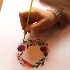 """Lena Klimann on Instagram: """"𝗛𝗼𝗰𝗵𝘇𝗲𝗶𝘁𝘀𝗴𝗲𝘀𝗰𝗵𝗲𝗻𝗸 𝗳ü𝗿 𝗥&𝗥 𝔸𝕢𝕦𝕒𝕣𝕖𝕝𝕝-𝔹𝕝𝕦𝕞𝕖𝕟𝕜𝕣𝕒𝕟𝕫 🌺🍃mit den 𝘐𝘯𝘪𝘵𝘪𝘢𝘭𝘦𝘯 vom Brautpaar und dem 𝘛𝘳𝘢𝘶𝘥𝘢𝘵𝘶𝘮 🖌🗒 #aquarellepainting #blumenkranz…"""" Cake, Desserts, Painting, Instagram, Floral Wreath, Newlyweds, Watercolor, Wedding, Gifts"""