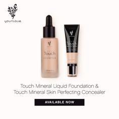 #MineralTouch Get a flawless face that's always camera-ready with Younique Touch Minerals Skin Perfecting Concealer