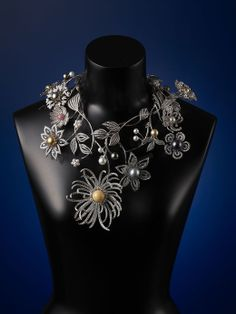 """Best of Mikimoto: Pearl Crown """"Flower of Dreams"""" in its necklace form. Mikimoto Celebrates the 120th Anniversary of the Cultured Pearl."""