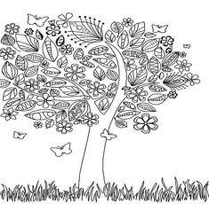 Coloring Pages Picturesque Fall Coloring Pages For Adults: Detailed Coloring…