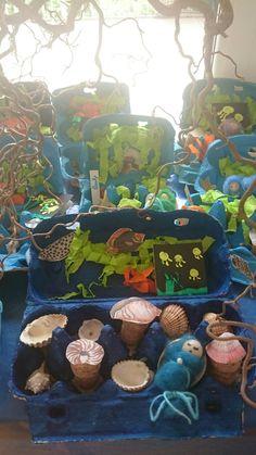 Aquarium im Eierkarton