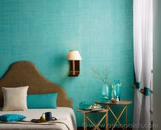 Play Around With Asian Paints RP Textile Jute Finish In Your Bedroom
