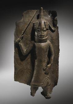 Edo Court / Palace Plaque, Benin, Nigeria African Sculptures, Animal Sculptures, Sculpture Art, African Masks, African Art, Arte Tribal, Art Premier, Geometric Decor, Bronze