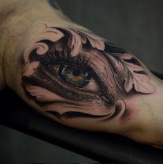 Tattoo echtaussehendes 3D Auge