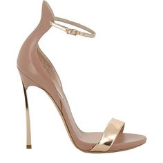 Leather Sandals ($611) ❤ liked on Polyvore featuring shoes, sandals, nude, womenshoessandals, high heeled footwear, casadei shoes, leather ankle strap sandals, casadei sandals and ankle tie sandals