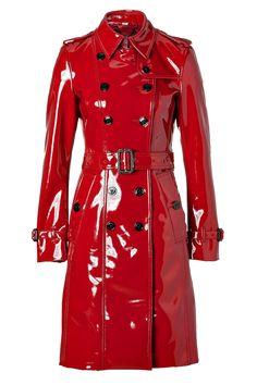 Burberry London lacquer red Queenscourt Trench Coat