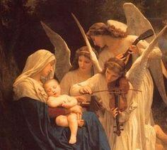 Maria e os anjos