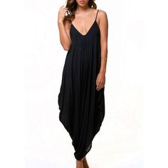 Women's V Neck Loose Baggy Fit Summer/Beach/Party Jumpsuit Romper Harem Suit 4558 #Affiliate