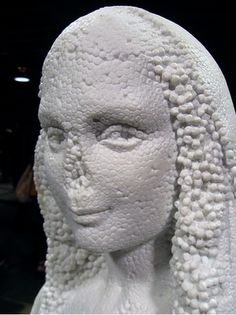 Marble Sculptures That Look Like Stryrofoam, Rubber and other materials.
