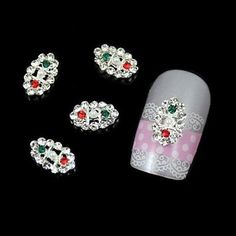 QINF 10pcs Fashion Oval Rhinestone DIY Alloy Accessories Nail Art Decoration >>> Click image to review more details.