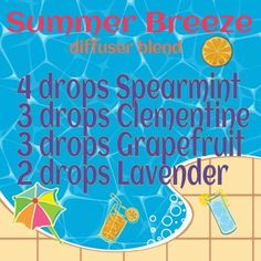 Summer breeze, sub clementine oil for tangerine oil! Helichrysum Essential Oil, Citrus Essential Oil, Essential Oil Diffuser Blends, Essential Oil Uses, Doterra Essential Oils, Natural Essential Oils, Young Living Essential Oils, Diffuser Recipes, Natural Remedies