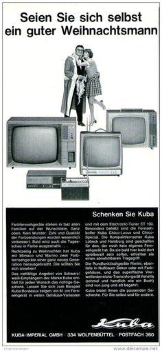 Original-Werbung/ Anzeige 1969 - KUBA FERNSEHER - ca. 110 x 240 mm